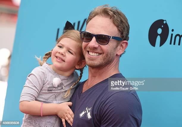 Actor Ian Ziering and daughter Mia Ziering attend the premiere of 'The Boxtrolls' at Universal CityWalk on September 21 2014 in Universal City...