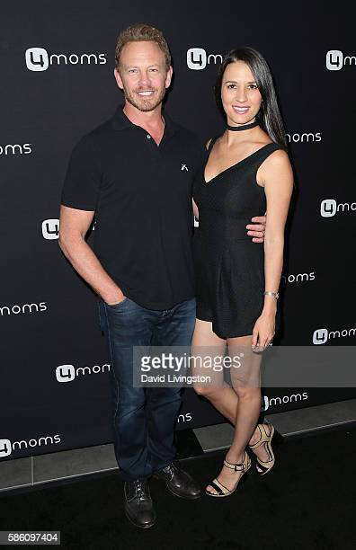 Actor Ian Ziering and wife Erin Kristine Ludwig attend 4moms launch of a selfinstalling car seat at Petersen Automotive Museum on August 4 2016 in...