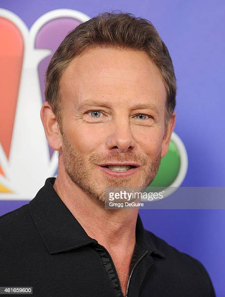 Actor Ian Ziering arrives at day 2 of the NBCUniversal 2015 Press Tour at The Langham Huntington Hotel and Spa on January 16 2015 in Pasadena...