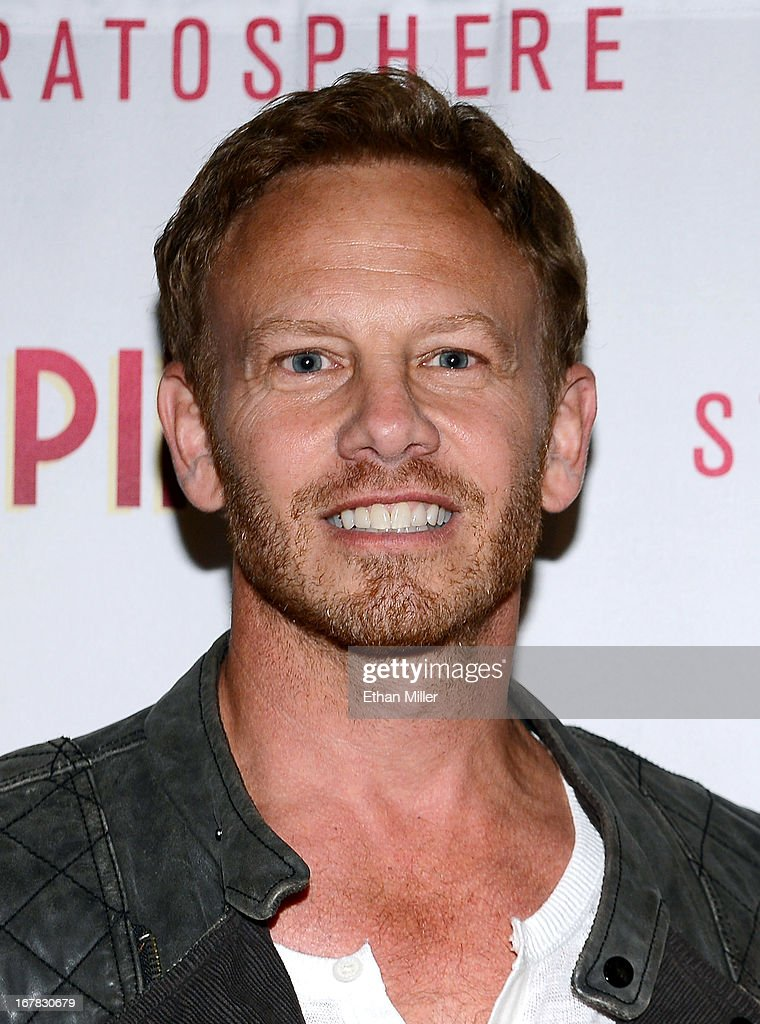 Actor <a gi-track='captionPersonalityLinkClicked' href=/galleries/search?phrase=Ian+Ziering&family=editorial&specificpeople=622264 ng-click='$event.stopPropagation()'>Ian Ziering</a> arrives at the premiere of the show 'Pin Up' at the Stratosphere Casino Hotel on April 29, 2013 in Las Vegas, Nevada.