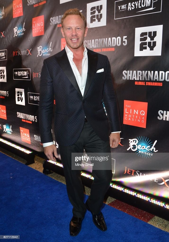 Actor Ian Ziering attends the premiere of 'Sharknado 5: Global Swarming' at The Linq Hotel & Casino on August 6, 2017 in Las Vegas, Nevada.