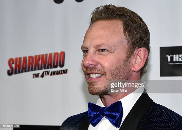 Actor Ian Ziering attends the premiere of Syfy's 'Sharknado The 4th Awakens' at the Stratosphere Casino Hotel on July 31 2016 in Las Vegas Nevada