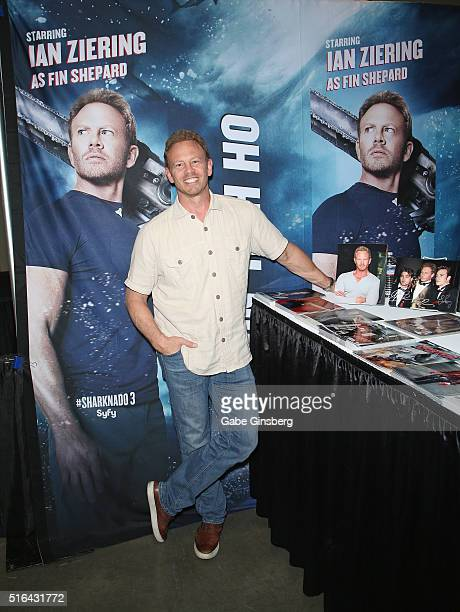 Actor Ian Ziering attends Wizard World Las Vegas at the Las Vegas Convention Center on March 18 2016 in Las Vegas Nevada