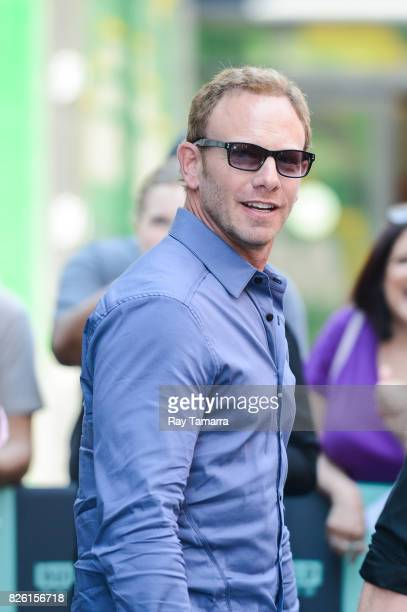 Actor Ian Ziering enters the 'AOL Build' taping at the AOL Studios on August 03 2017 in New York City