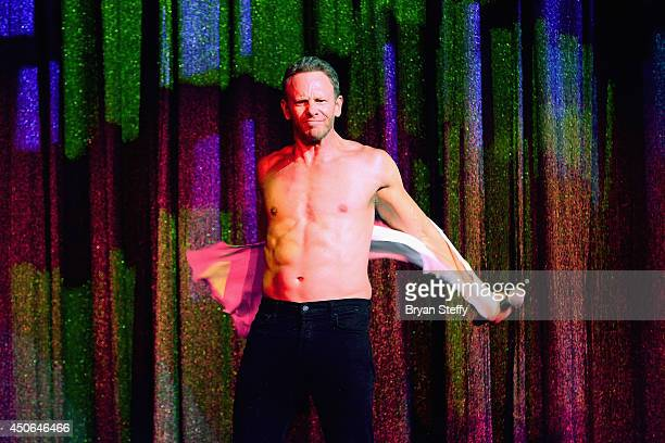 Actor Ian Ziering performs during his return as Chippendales celebrity guest host at Chippendales at the Rio Hotel Casino on June 14 2014 in Las...
