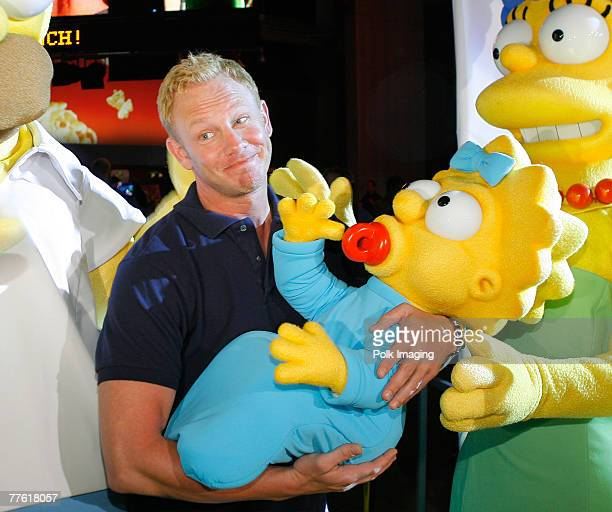 Actor Ian Ziering poses at the 'The Simpsons' game launch party at the Hard Rock Cafe on October 30 2007 in Universal City California