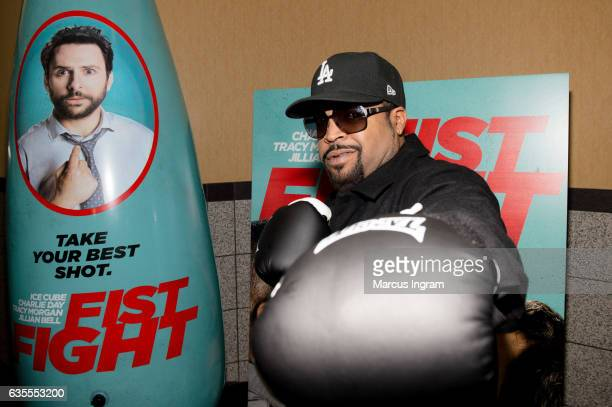 Actor Ice Cube attends FIST FIGHT VIP screening at Regal Atlantic Station on February 15 2017 in Atlanta Georgia