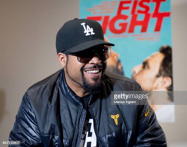 Actor Ice Cube attends the FIST FIGHT take over at Clark Atlanta University for an HBCU StrollOff on February 16 2017 in Atlanta Georgia