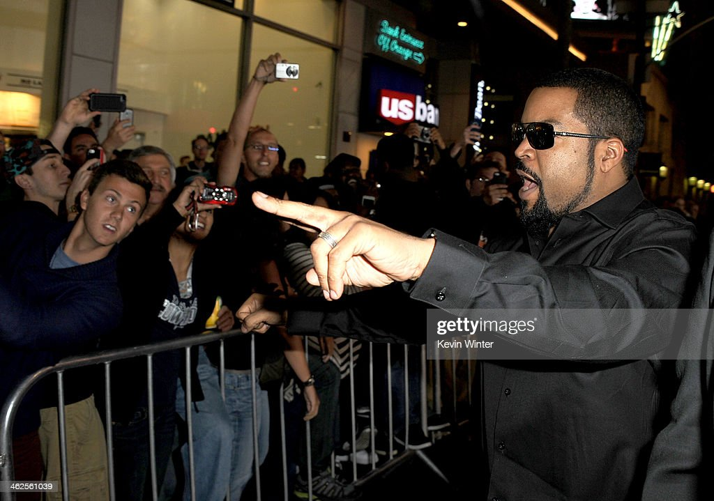 Actor Ice Cube attends the Premiere Of Universal Pictures' 'Ride Along' at TCL Chinese Theatre on January 13, 2014 in Hollywood, California.