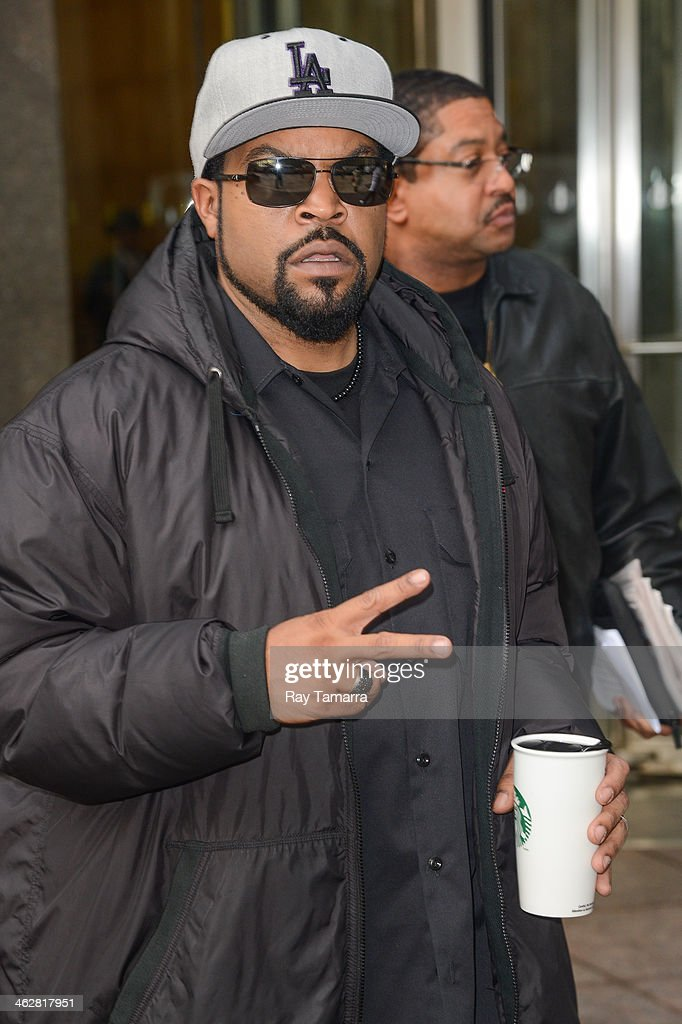 Actor Ice Cube leaves the Sirius XM Studios on January 15, 2014 in New York City.