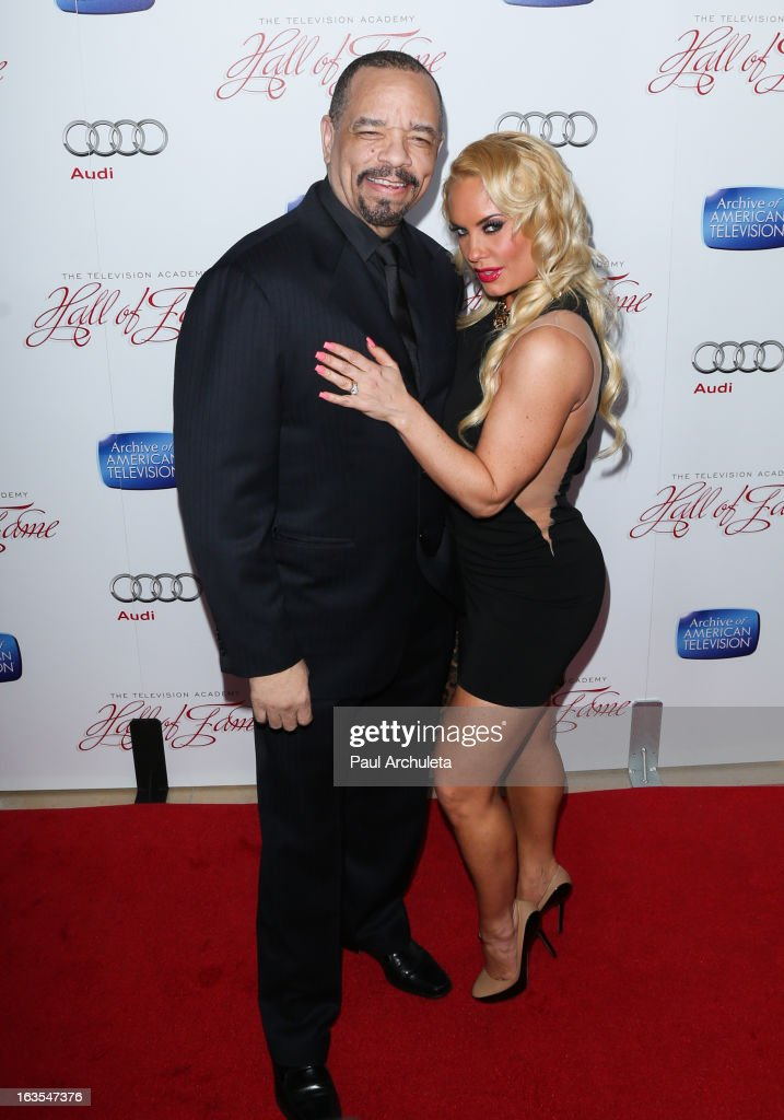 Actor Ice-T (L) and Reality TV Personality Coco Austin (R) attend the Academy Of Television Arts & Sciences 22nd annual Hall Of Fame induction gala at The Beverly Hilton Hotel on March 11, 2013 in Beverly Hills, California.