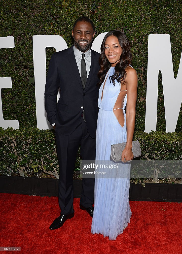 Actor Idris Elba and actress Naomie Harris attend the premiere of The Weinstein Company's 'Mandela: Long Walk To Freedom' at ArcLight Cinemas on November 11, 2013 in Hollywood, California.