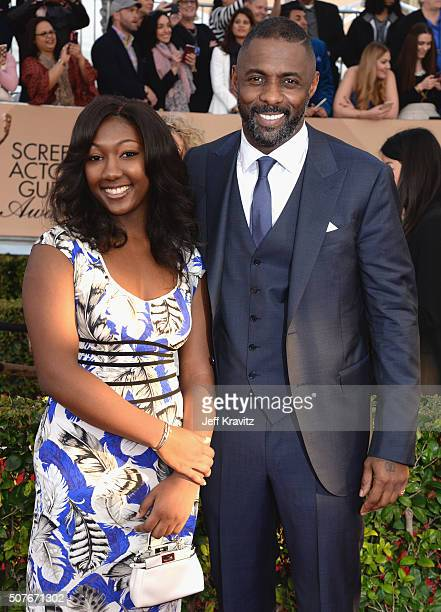 Actor Idris Elba and his daughter Isan Elba attends the 22nd Annual Screen Actors Guild Awards at The Shrine Auditorium on January 30 2016 in Los...