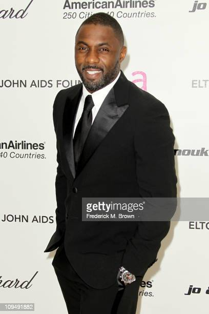 Actor Idris Elba arrives at the 19th Annual Elton John AIDS Foundation's Oscar viewing party held at the Pacific Design Center on February 27 2011 in...