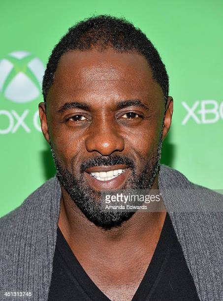Actor Idris Elba arrives at the Xbox One official launch celebration at Milk Studios on November 21 2013 in Hollywood California