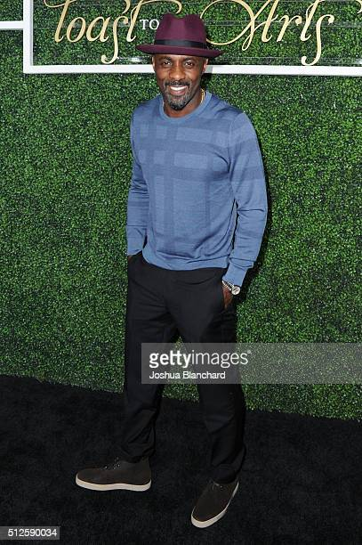 Actor Idris Elba attends Common's Toast to the Arts sponsored by Remy Martin at Ysabel on February 26 2016 in West Hollywood California
