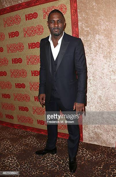 Actor Idris Elba attends HBO's Post 2014 Golden Globe Awards Party held at Circa 55 Restaurant on January 12 2014 in Los Angeles California