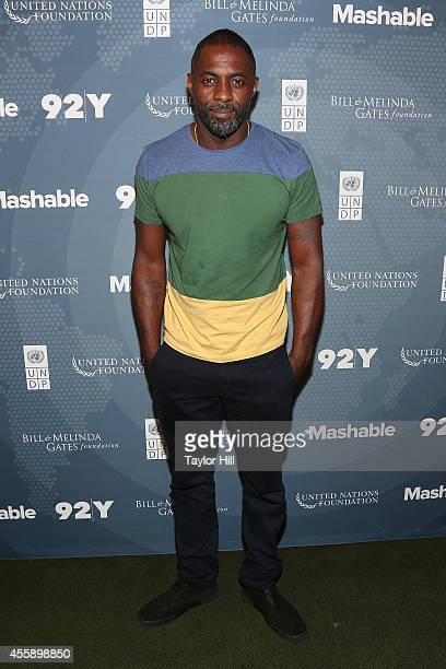 Actor Idris Elba attends the 2014 Social Good Summit at 92Y on September 21 2014 in New York City