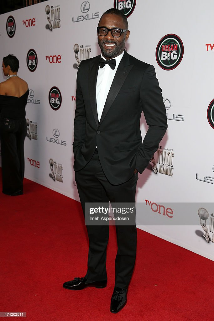 Actor <a gi-track='captionPersonalityLinkClicked' href=/galleries/search?phrase=Idris+Elba&family=editorial&specificpeople=215443 ng-click='$event.stopPropagation()'>Idris Elba</a> attends the 45th NAACP Image Awards presented by TV One at Pasadena Civic Auditorium on February 22, 2014 in Pasadena, California.