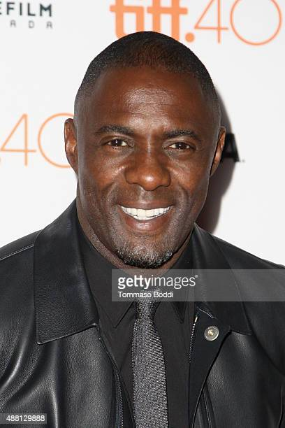 Actor Idris Elba attends the 'Beasts Of No Nation' premiere during the 2015 Toronto International Film Festival at Ryerson Theatre on September 13...