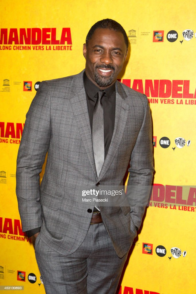 Actor <a gi-track='captionPersonalityLinkClicked' href=/galleries/search?phrase=Idris+Elba&family=editorial&specificpeople=215443 ng-click='$event.stopPropagation()'>Idris Elba</a> attends the 'Mandela: Long Walk to Freedom' Paris premiere at UNESCO on December 2, 2013 in Paris, France.