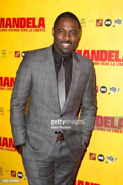 Actor Idris Elba attends the 'Mandela Long Walk to Freedom' Paris premiere at UNESCO on December 2 2013 in Paris France
