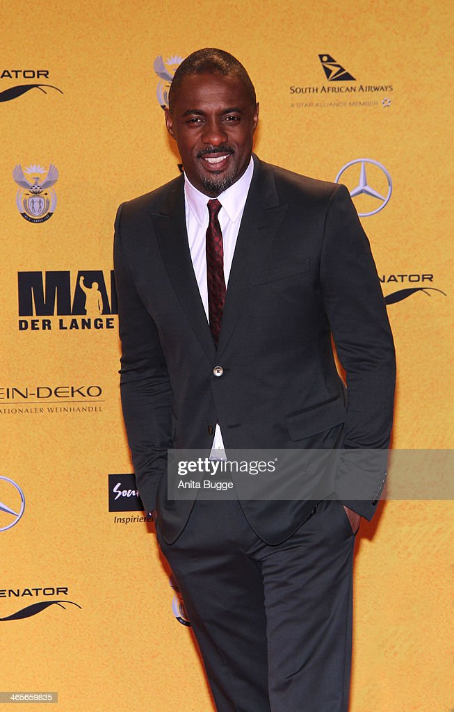 Actor <a gi-track='captionPersonalityLinkClicked' href=/galleries/search?phrase=Idris+Elba&family=editorial&specificpeople=215443 ng-click='$event.stopPropagation()'>Idris Elba</a> attends the premiere of the film 'Mandela: Long Walk to Freedom' (Mandela: Der lange Weg zur Freiheit) at Zoo Palast on January 28, 2014 in Berlin, Germany.