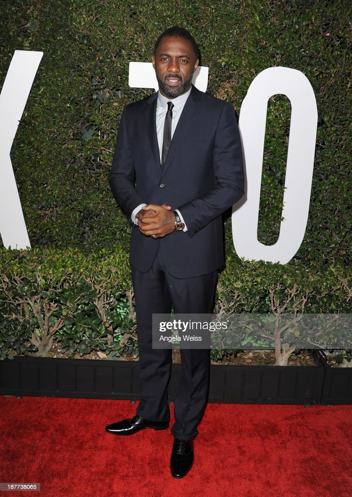 Actor <a gi-track='captionPersonalityLinkClicked' href=/galleries/search?phrase=Idris+Elba&family=editorial&specificpeople=215443 ng-click='$event.stopPropagation()'>Idris Elba</a> attends the premiere of The Weinstein Company's 'Mandela: Long Walk To Freedom' at ArcLight Cinemas Cinerama Dome on November 11, 2013 in Hollywood, California.