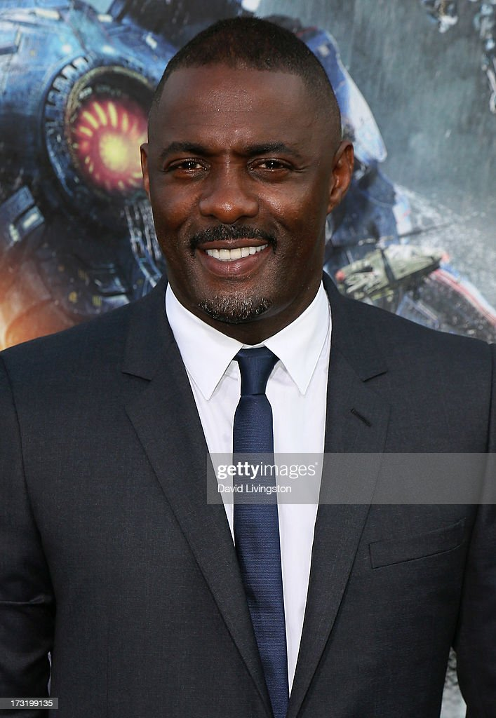 Actor <a gi-track='captionPersonalityLinkClicked' href=/galleries/search?phrase=Idris+Elba&family=editorial&specificpeople=215443 ng-click='$event.stopPropagation()'>Idris Elba</a> attends the premiere of Warner Bros. Pictures and Legendary Pictures' 'Pacific Rim' at the Dolby Theatre on July 9, 2013 in Hollywood, California.