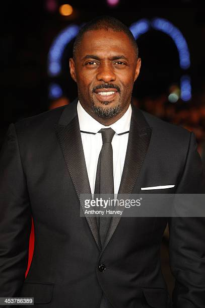 Actor Idris Elba attends the Royal film performance of 'Mandela Long Walk to Freedom' on December 5 2013 in London United Kingdom