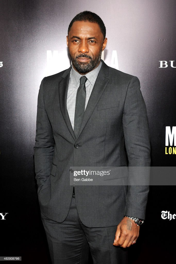 Actor <a gi-track='captionPersonalityLinkClicked' href=/galleries/search?phrase=Idris+Elba&family=editorial&specificpeople=215443 ng-click='$event.stopPropagation()'>Idris Elba</a> attends the screening of 'Mandela: Long Walk to Freedom', hosted by U2, Anna Wintour and Bob & Harvey Weinstein, with Burberry at the Ziegfeld Theater on November 25, 2013 in New York City.