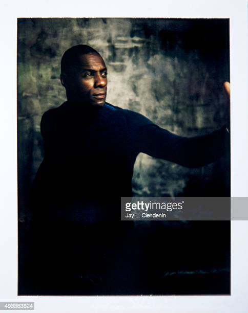 Actor Idris Elba from the film 'Beasts of No Nation' is photographed on polaroid film for Los Angeles Times on September 25 2015 in Toronto Ontario...