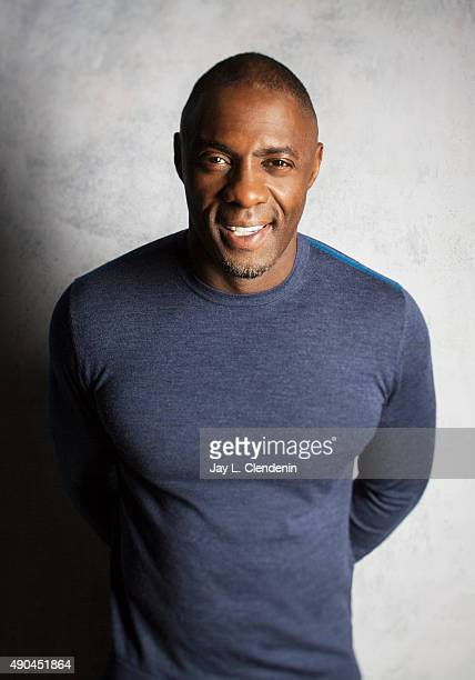 Actor Idris Elba from the film 'Beasts of No Nation' is photographed for Los Angeles Times on September 25 2015 in Toronto Ontario PUBLISHED IMAGE...