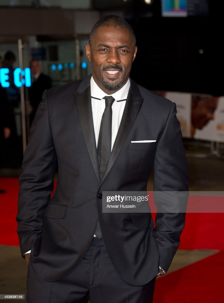 Actor <a gi-track='captionPersonalityLinkClicked' href=/galleries/search?phrase=Idris+Elba&family=editorial&specificpeople=215443 ng-click='$event.stopPropagation()'>Idris Elba</a>, who portrays Nelson Mandela, attends the Royal film performance of 'Mandela: Long Walk to Freedom' at the Odeon Leicester Square on December 05, 2013 in London, England.