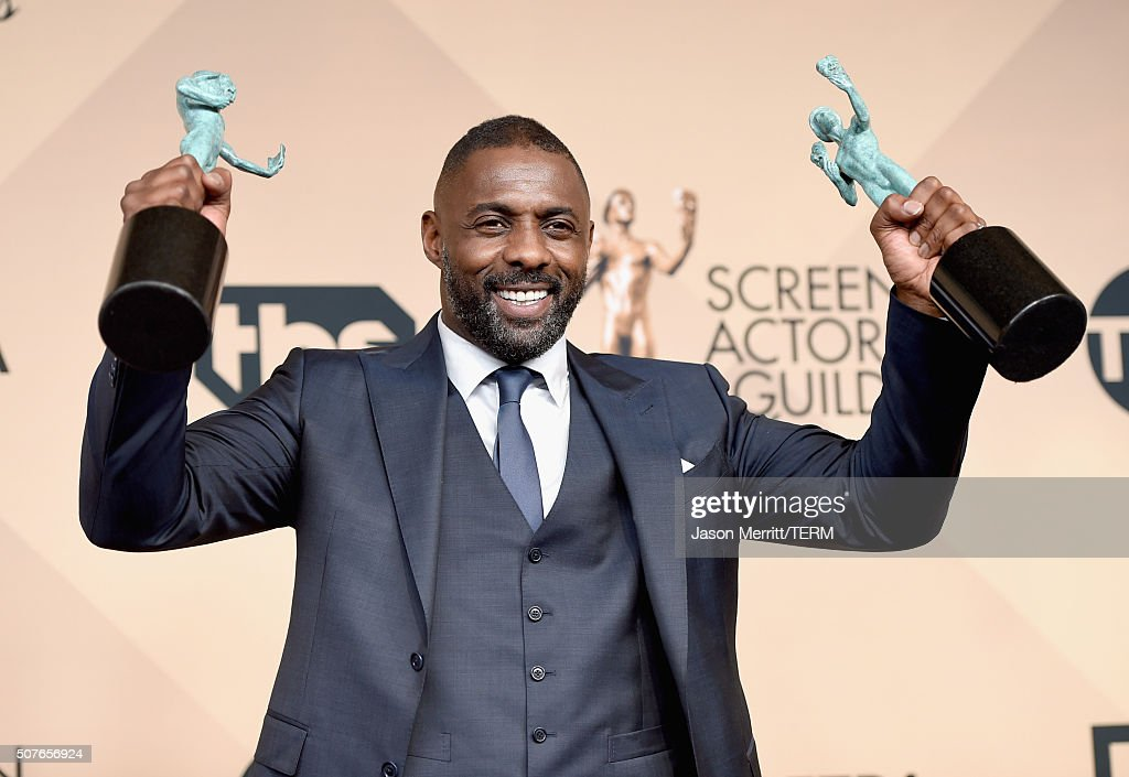 Actor Idris Elba winner of Outstanding Performance by a Male Actor in a Supporting Role for 'Beasts of No Nation' and Outstanding Performance by a...