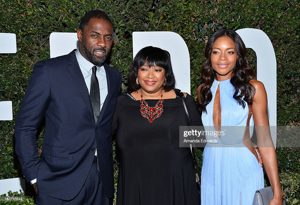 Actor <a gi-track='captionPersonalityLinkClicked' href=/galleries/search?phrase=Idris+Elba&family=editorial&specificpeople=215443 ng-click='$event.stopPropagation()'>Idris Elba</a>, <a gi-track='captionPersonalityLinkClicked' href=/galleries/search?phrase=Zindzi+Mandela&family=editorial&specificpeople=4650558 ng-click='$event.stopPropagation()'>Zindzi Mandela</a> and actress <a gi-track='captionPersonalityLinkClicked' href=/galleries/search?phrase=Naomie+Harris&family=editorial&specificpeople=238918 ng-click='$event.stopPropagation()'>Naomie Harris</a> arrive at the Los Angeles premiere of 'Mandela: Long Walk To Freedom' at ArcLight Cinemas Cinerama Dome on November 11, 2013 in Hollywood, California.