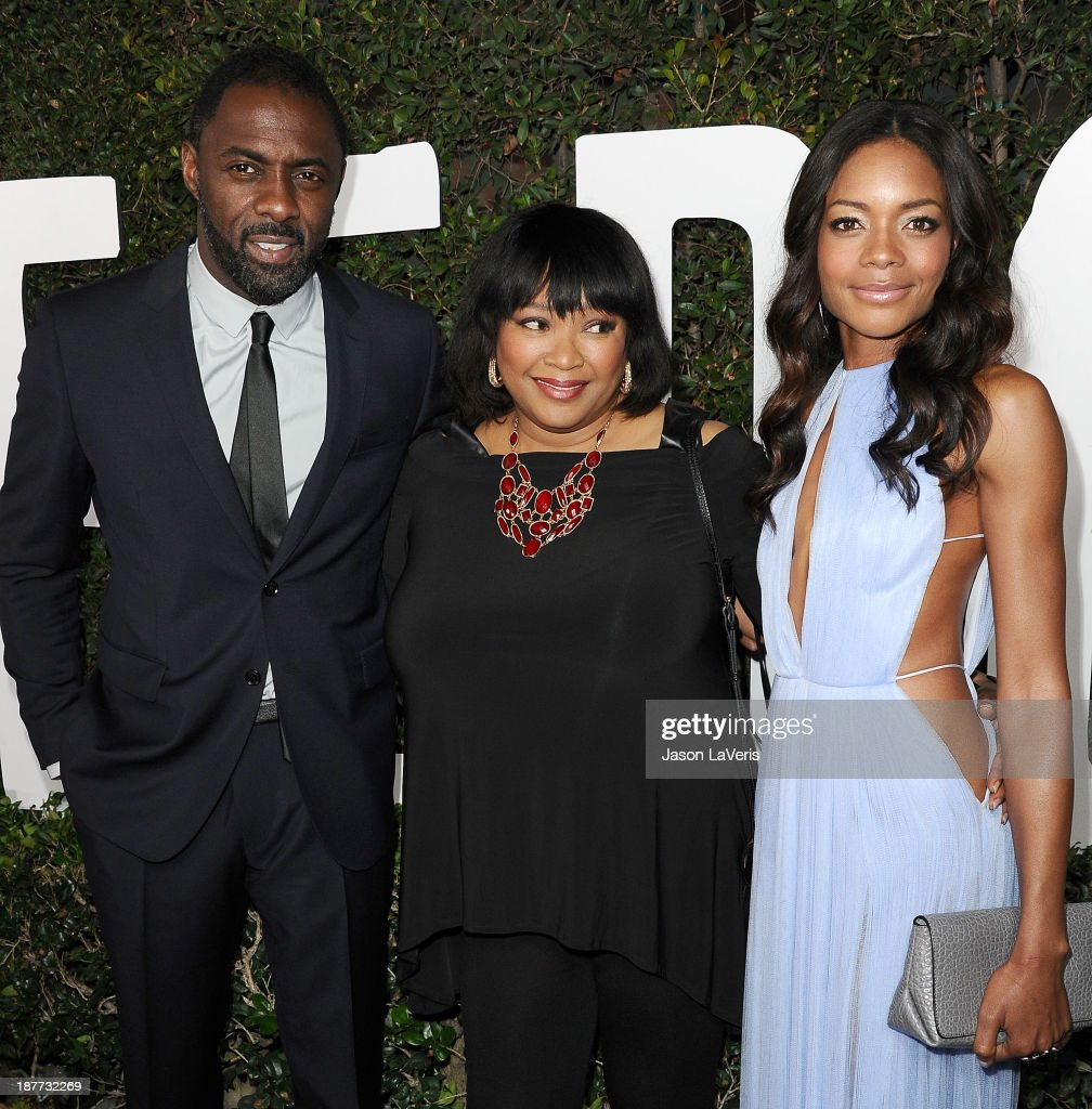 Actor <a gi-track='captionPersonalityLinkClicked' href=/galleries/search?phrase=Idris+Elba&family=editorial&specificpeople=215443 ng-click='$event.stopPropagation()'>Idris Elba</a>, <a gi-track='captionPersonalityLinkClicked' href=/galleries/search?phrase=Zindzi+Mandela&family=editorial&specificpeople=4650558 ng-click='$event.stopPropagation()'>Zindzi Mandela</a> and actress <a gi-track='captionPersonalityLinkClicked' href=/galleries/search?phrase=Naomie+Harris&family=editorial&specificpeople=238918 ng-click='$event.stopPropagation()'>Naomie Harris</a> attend the premiere of 'Mandela: Long Walk To Freedom' at ArcLight Cinemas Cinerama Dome on November 11, 2013 in Hollywood, California.