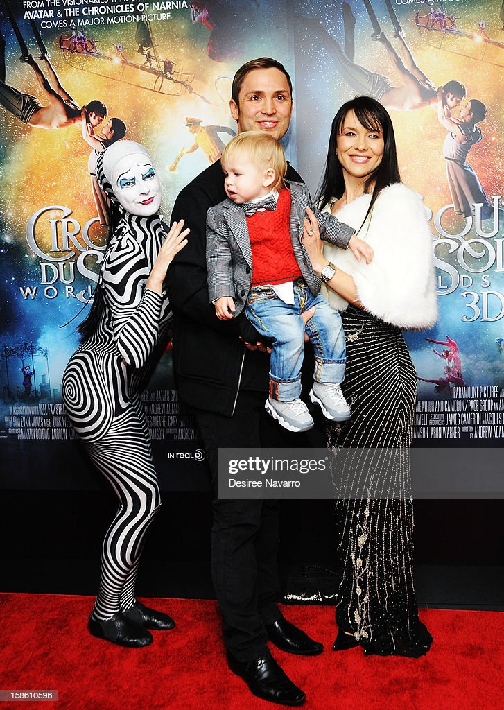 Actor Igor Zaripov and family attend 'Cirque Du Soleil: Worlds Away' New York Screening at Regal E-Walk on December 20, 2012 in New York City.