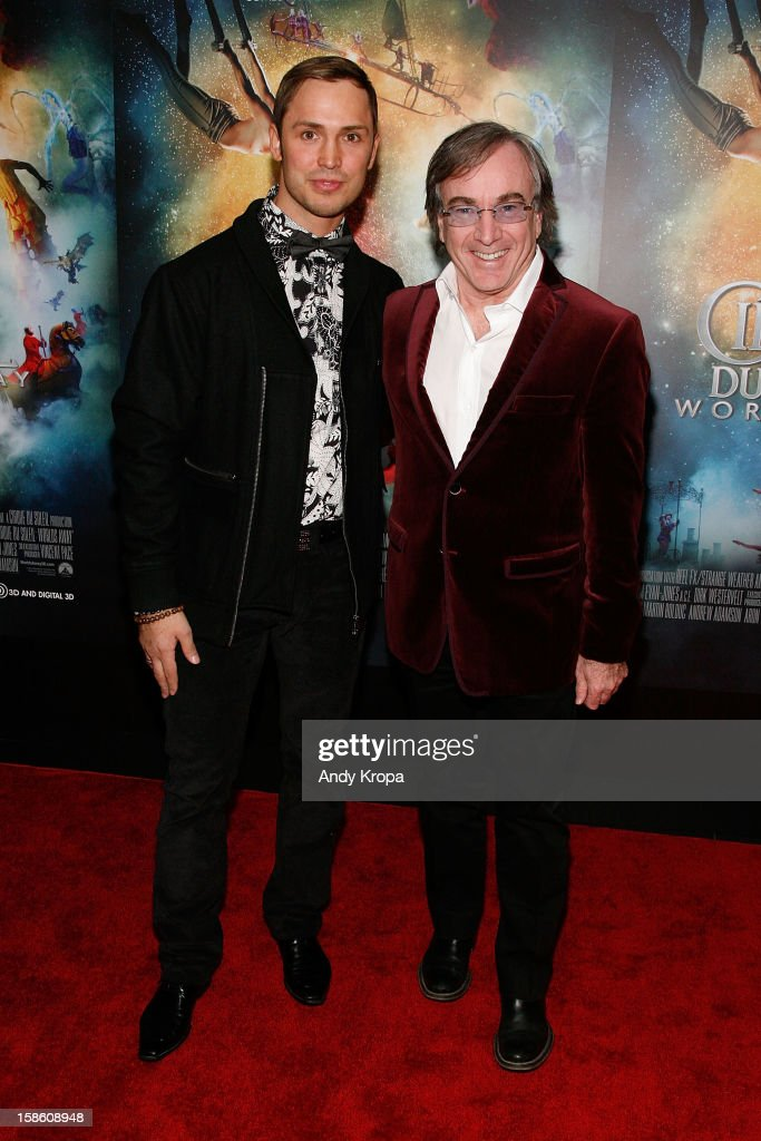 Actor Igor Zaripov and President and CEO of Cirque Du Soleil Daniel Lamarre attend 'Cirque Du Soleil: Worlds Away' New York Special Screening at Regal E-Walk on December 20, 2012 in New York City.