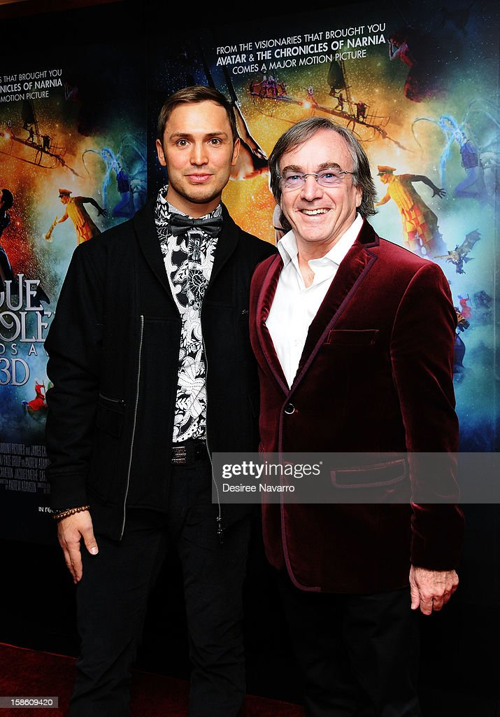 Actor Igor Zaripov and (R) President and CEO of Cirque Du Soleil, Daniel Lamarre attend 'Cirque Du Soleil: Worlds Away' New York Screening at Regal E-Walk on December 20, 2012 in New York City.