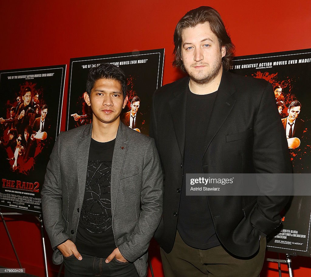 Actor <a gi-track='captionPersonalityLinkClicked' href=/galleries/search?phrase=Iko+Uwais&family=editorial&specificpeople=8212160 ng-click='$event.stopPropagation()'>Iko Uwais</a> and director Gareth Evans attend 'The Raid 2' special screening at Sunshine Landmark on March 17, 2014 in New York City.