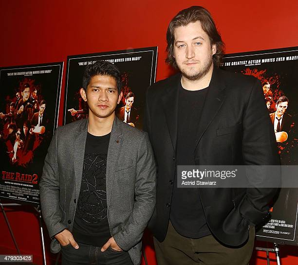 Actor Iko Uwais and director Gareth Evans attend 'The Raid 2' special screening at Sunshine Landmark on March 17 2014 in New York City