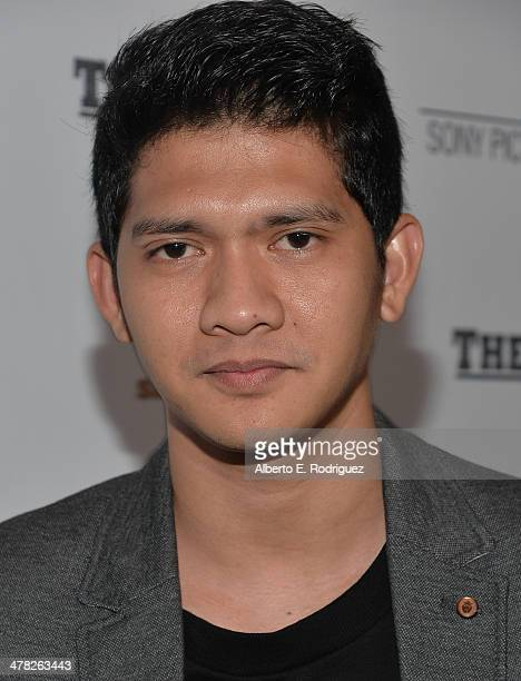 Actor Iko Uwais arrives to the premiere of Sony Pictures Classics' 'The Raid 2' at Harmony Gold Theatre on March 12 2014 in Los Angeles California