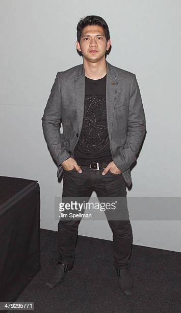 Actor Iko Uwais attends 'Meet The Filmmakers' at Apple Store Soho on March 17 2014 in New York City