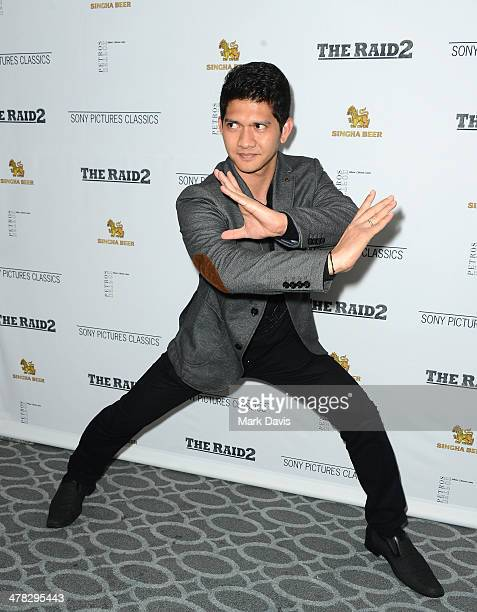Actor Iko Uwais attends the premiere of Sony Picture Classics' 'The Raid 2' held at the Harmony Gold Theatre on March 12 2014 in Los Angeles...