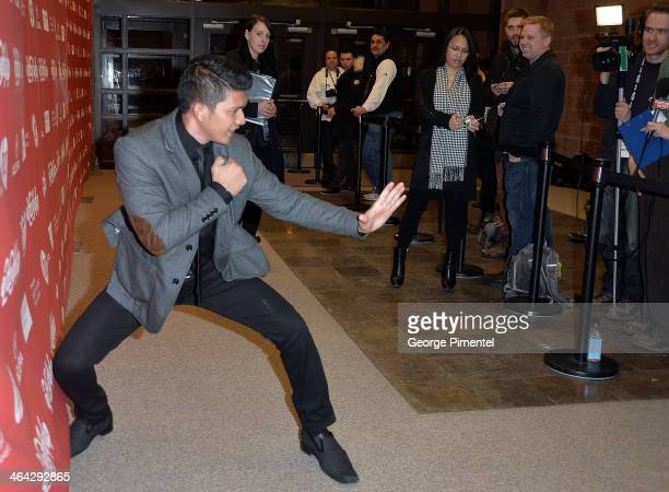 Actor Iko Uwais attends the premiere of 'The Raid 2' at Eccles Center Theatre during the 2014 Sundance Film Festival on January 21 2014 in Park City...