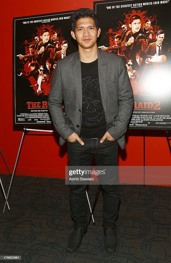 Actor <a gi-track='captionPersonalityLinkClicked' href=/galleries/search?phrase=Iko+Uwais&family=editorial&specificpeople=8212160 ng-click='$event.stopPropagation()'>Iko Uwais</a> attends 'The Raid 2' special screening at Sunshine Landmark on March 17, 2014 in New York City.