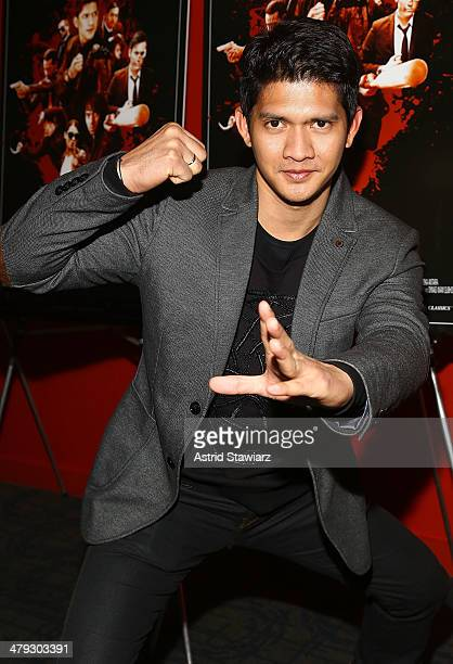 Actor Iko Uwais attends 'The Raid 2' special screening at Sunshine Landmark on March 17 2014 in New York City