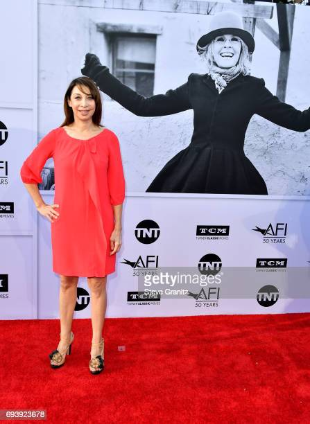 Actor Illeana Douglas arrives at the AFI Life Achievement Award Gala Tribute to Diane Keaton at Dolby Theatre on June 8 2017 in Hollywood California