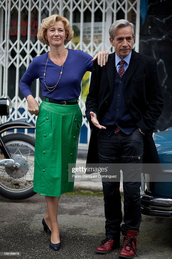 Actor Imanol Arias and actress Ana Duato attend 'Cuentame Como Paso' 14th Season presentation at Estudios Grupo Ganga on January 9, 2013 in Pinto, Spain.